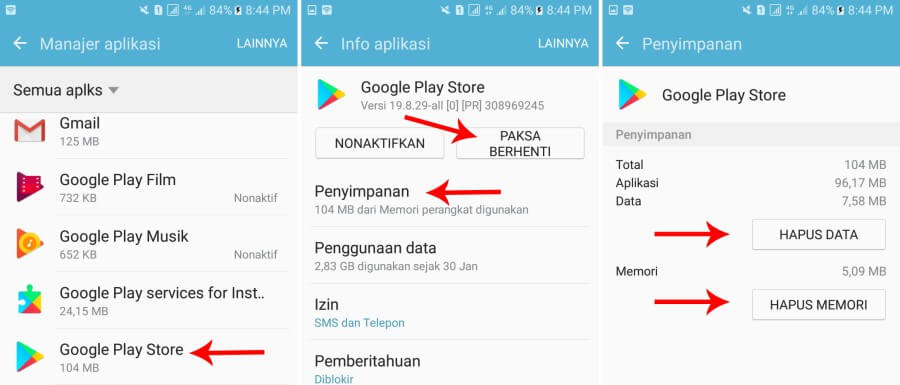clear data google play
